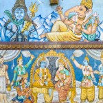 Podczas zwiedzania Varanasi nie sposób pominąć  wielobarwnych murali.