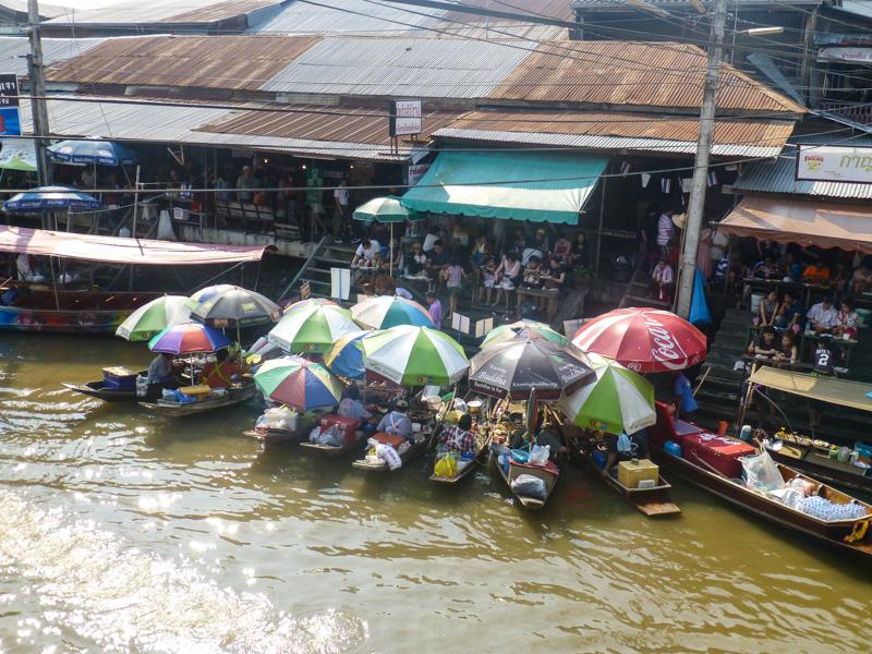 plywajacy targ bangkok