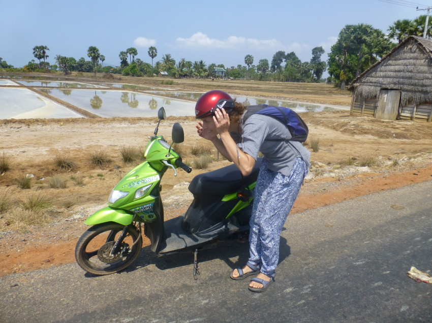 skutery w Kambodży