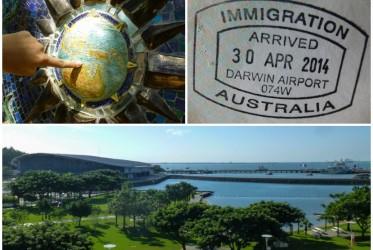 australia wiza przylot