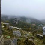 Pogoda idealna na wizytę na cmentarzu.