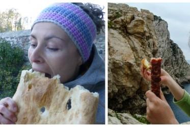 kobieta jedzenie