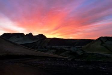 Słońce zachodziło najładniej ze wszystkich dni naszego pobytu na Islandii
