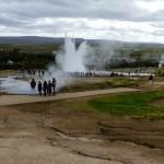 ... ale nie jedyna. Okoliczne pole geotermalne również przeżywa oblężenie (jak na Islandzkie warunki).