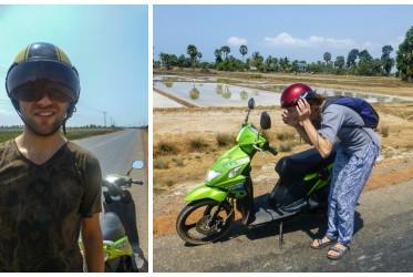skuterem przez kambodze