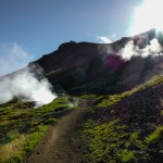 Kolejną z atrakcji w okolicy Reykjaviku, chodź już nie tak znaną jak poprzednie jest Reykjadalur - dymiąca  dolina.