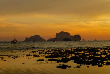 zachód słońca railey